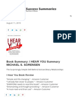 Book Summary_ I Hear You Summary Michael Sorensen - Read in 7 Minutes