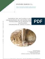 Memoria del hallazgo y excavación arqueológica de los restos óseos humanos aparecidos en el barrio Ugalde de Respaldiza (Municipio de Ayala-Aiara, Álava).