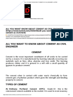 ALL YOU WANT KNOW ABOUT CEMENT AS CIVIL ENGINEER -LCETED