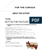 about the author's life activity- Stories for the curious