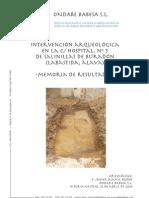 Intervención Arqueológica en la C/Hospital, nº 5 de Salinillas de Buradón (Labastida, Álava). Memoria de Resultados