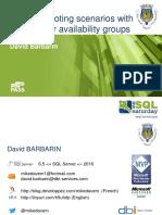 SQLSaturdayPorto 2016 Availability Groups Troubleshooting Common Scenarios