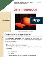 Traitement thermique API2- 2020