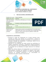 Guía para entrega de informe del componente práctico. - Realizar Salida de campo.