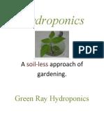 Hydroponics by Green Ray Hydroponics