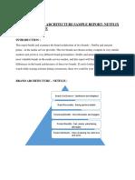 Brand architecture report