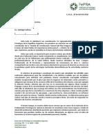 Nota de la Federación de Psicólogos argentinos a Cafiero