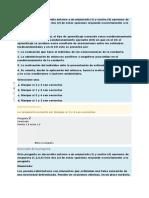 MODELOS DE INTERVENCION  EN PSICOLOGIA.  CUESTIONARIO