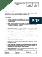 LIMPIEZA Y DESINFECCION DE AREA ESTERIL