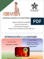 GENERALIDADES DE ANATOMÍA Y FISIOLOGÍA