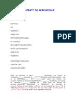 modelo de CONTRATO DE APRENDIZAJE