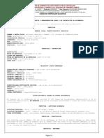 Certificado de existencia y representacion legal Travecedo