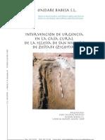 Intervención de Urgencia en la casa cural de la Iglesia de San Nicolás de Zestafe (Zigoitia).