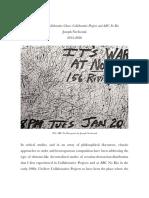 Joseph Nechvatal 2012-2020 Attractions of Collaborative Chaos - Collaborative Projects and ABC No Rio