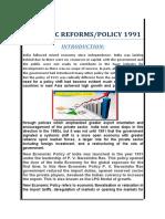 Economic Reforms 1991