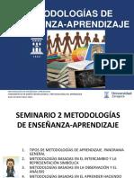 3 Metodologias de enseñanza aprendizaje