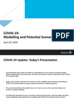 Update Ontario modelling for COVID-19