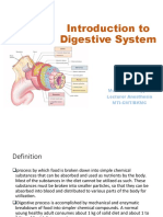 introduction to digestive system