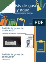 Análisis de gases y agua