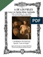 I Domingo de Pascua (2020). GUÍA DE LOS FIELES PARA LA SANTA MISA CANTADA.