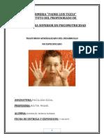 Trastorno Generalizado del Desarrollo.  no especificado  (TEA)