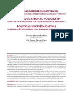 Llorent Bedmar - Políticas Socioeducativas de Integración de Inmigrantes Alemania España Francia