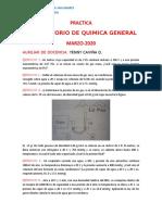 PRACTICA  QUIMICA GENERAL