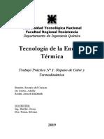 Taller 1 - Revisión de Termodinámica
