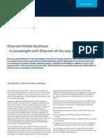 Ethernet Mobile Backhaul