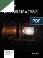 J. Konvitz - Don't waste a crisis 2020-04-20