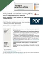 Maltrato infantil su conocimiento atencion y difusion en 3 hospitales pediatricos de mexico MEXICO 2016.pdf