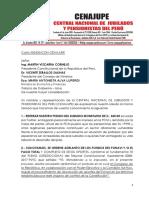 Tercera Carta Cenajupe 200420 a Presidente de la República, PCM y a MEF