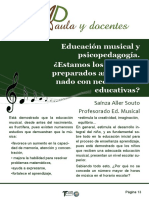aula musical y psicopedagogia