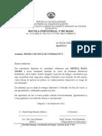 Carta Modelo Estagio Formativo na EDM