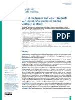 2016, Use of medicines and other products for therapeutic purposes among children in Brazil.