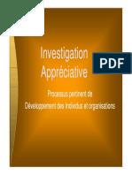 Investigation appreciative