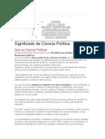 TRABAJO DE  POLITICA