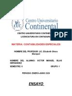 ENSAYO SECTOR EDUCATIVO