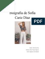 Biografía de Sofía Cariz Díaz listo