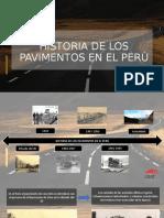 Historia de Los Pavimentos Perú