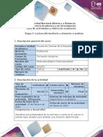 Guía de actividades y rúbrica de evaluación - Etapa 2 - Lectura de su territorio y situación a analizar (1)