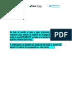 Procedimiento para la obtención del material de propagación en el predio instructivo