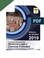 Informe de Gestion 2019 medicina legal 2