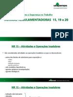 NORMAS REGULAMENTADORAS - HIGIENE E SEGURANÇA DO TRABALHO