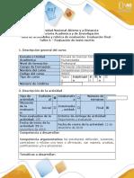 Guía de actividades y rúbrica de evaluación taller 6. Evaluación de texto escrito.docx