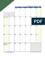 Calendario Janeiro 2019