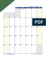 Calendario Maio 2019