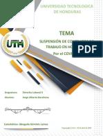 SUSPENSION DE CONTRATOS DE TRABAJO POR PANDEMIA COVID-19