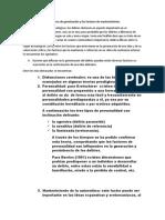 Los factores de germinación y los factores de mantenimiento
