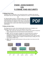 Cyber Forensic  Assignment